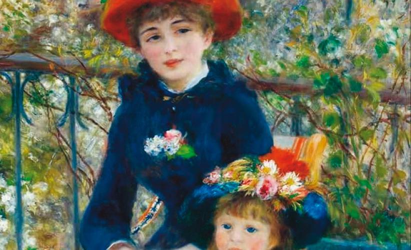 Due sorelle nella terrazza (1881) Pierre Auguste Renoir - Radici ...
