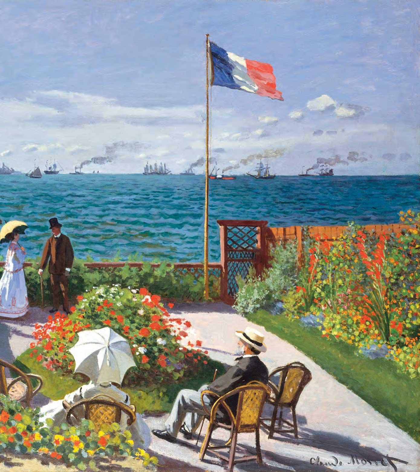 Claude monet 1867 la terrazza sul mare a sainte adresse - Terrazzi sul mare ...